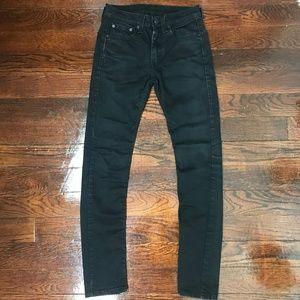 Levi's 519 Men's Skinny Jeans Black Sz 29x32